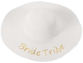Cathy's Concepts Gold Sequin Bride Tribe Sun Hat