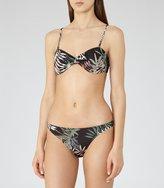 Reiss Avery T - Bandeau Bikini Top in Black, Womens