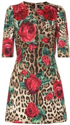 Dolce & Gabbana Printed cotton and silk minidress