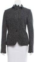 Jil Sander Herringbone Wool & Cashmere-Blend Blazer