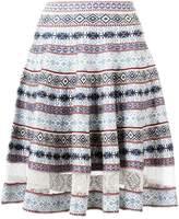 Alexander McQueen knee-length jacquard skirt