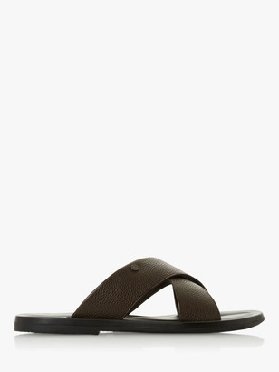 Dune Frankss Leather Sandals, Brown
