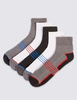 Marks and Spencer 5 Pairs of Cool & FreshTM Cotton Rich Sports Socks