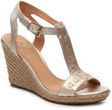 Jack Rogers Women's Willa Wedge Sandal -Gold Metallic