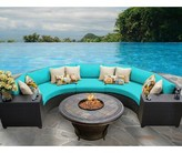Tegan 6 Piece Sectional Seating Group with Cushions Sol 72 Outdoor Cushion Color: Aruba