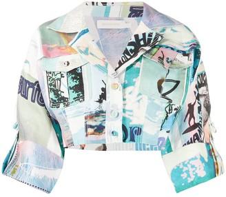 Zimmermann Patchwork Cropped Jacket