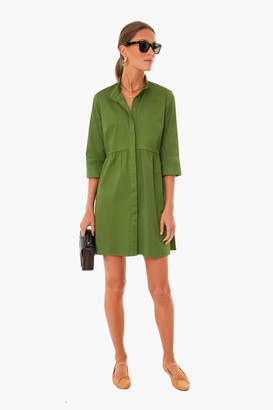 Ivy Green Stretch Crepe Royal Shirt Dress