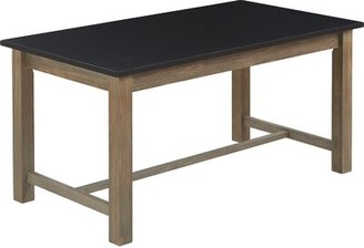 Tommy Hilfiger Finch Elmhurst Dining Table, Black and Weathered Grey