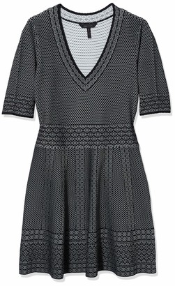 BCBGMAXAZRIA Azria Women's Bettina Lace Relief Jacquard Dress