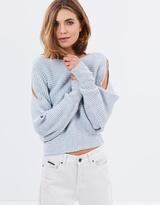 Miss Selfridge Cutout Sleeve Slouchy Crop Jumper