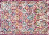 nuLoom Bodrum Leilani Persian Framed Floral Rug