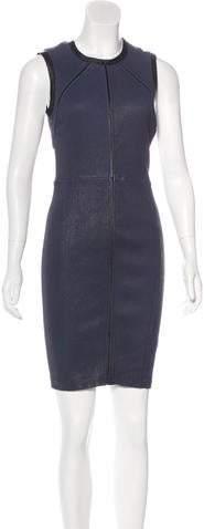 Yigal Azrouel Leather Bodycon Dress