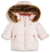 Tartine et Chocolat Infant Girls' Faux Fur Trimmed Puffer Jacket - Sizes 6-18 Months