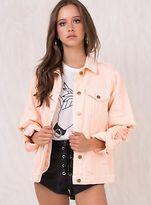 MinkPink New Women's Vo Vo Trashed Denim Jacket