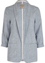 River Island Womens Light grey chambray longline blazer