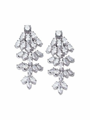 Kenneth Jay Lane CZ by Marquise Waterfall Earrings