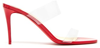 Christian Louboutin Just Nothing 85 Mules - Red