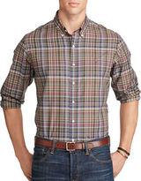 Polo Big And Tall Plaid Long Sleeve Shirt