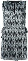 Isabel Marant digital chevron print dress - women - Silk/Cotton/Polyester/Viscose - 38