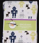Circo Robots Fitted Crib Sheet toddler bed sheet new by