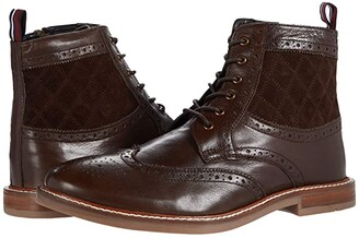 Ben Sherman Birk Wing Tip Boots (Brown Leather) Men's Shoes