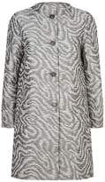 Cinzia Rocca Jacquard Longline Coat