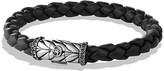 David Yurman Chevron Bracelet in Black with Black Diamonds