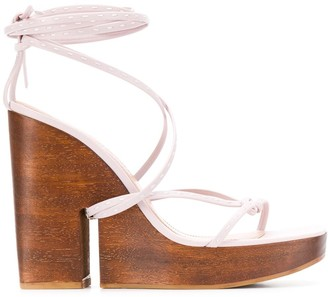 Jacquemus wrap-ankle wedge sandals