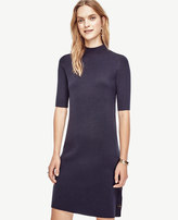Ann Taylor Petite Side Button Sweater Dress