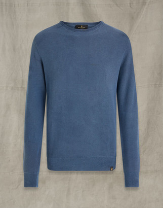 Belstaff PIGMENT DYE CREW NECK Blue