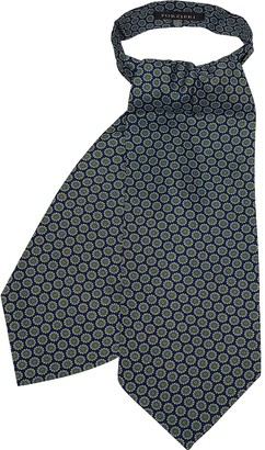 Forzieri Daisy Printed Twill Silk Ascot Tie