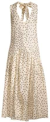 Stella McCartney Polka Dot-Print Silk-Blend Maxi Dress