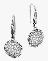 John Hardy Classic Diamond Pave Round Drop Earrings