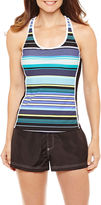 ZeroXposur Stripe Tankini Swimsuit Top