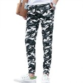 Honghu Men's Slim Fit Cargo Jogger Camo Pants Size X-L