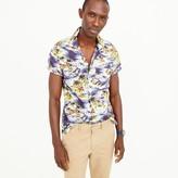 J.Crew Short-sleeve camp-collar shirt in wave print