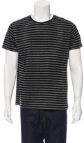 Saint Laurent Striped Crew Neck T-Shirt