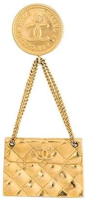 Chanel Pre Owned handbag chain brooch