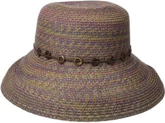 San Diego Hat Company Women's 3-inch Ultrabraid Kettle Brim Sun Hat with Beaded Trim