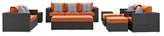 Sojourn Patio Sunbrella Sectional Set (9 PC)