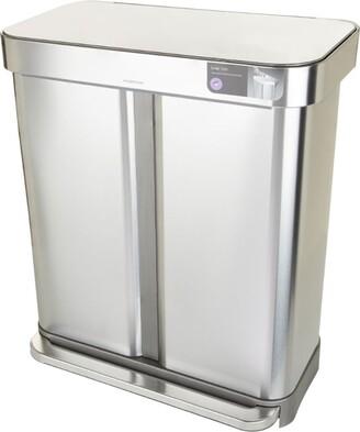Simplehuman Rectangular Dual Compartment Recycle Bin (58L)