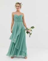 Asos Design DESIGN Bridesmaid bandeau maxi dress with soft layer skirt