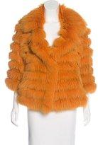 Trilogy Fox Fur Knit Jacket