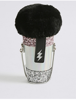 Marks and Spencer Kids' Faux Fur Microphone Cross Body Bag