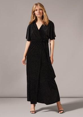 Phase Eight Robynne Sparkle Wrap Maxi Dress