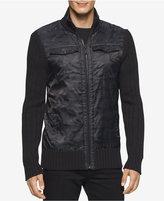 Calvin Klein Jeans Men's Cargo Full-Zip 3GG Sweater