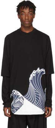 D.gnak By Kang.d Black Wave T-Shirt