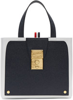 Thom Browne Navy Trompe Loeil Bag