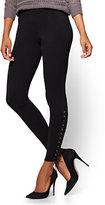 New York & Co. Soho Jeans - Side Lace-Up Legging - Black