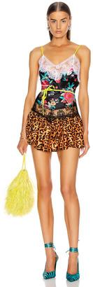 ATTICO Floral Mini Dress in Black & Pink   FWRD